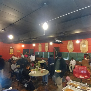 Food, warm clothing, and shelter for homeless at Destiny Family Church, the Ville, St. Louis
